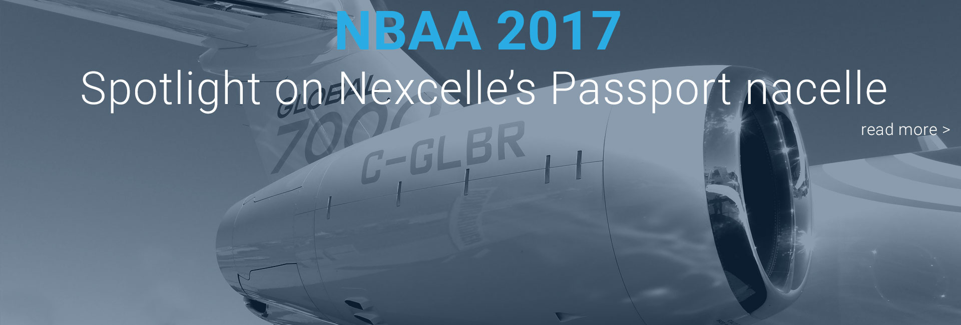 Bombardier Global 7000 at NBAA 2017