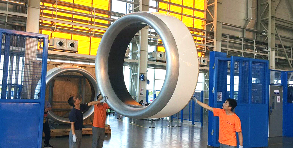 Installation of Nexcelle's nacelle on LEAP-1C engine