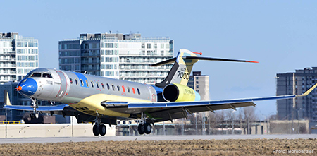 Maiden flight begins for no. 2 Bombardier Global 7000 Flight Test Vehicle