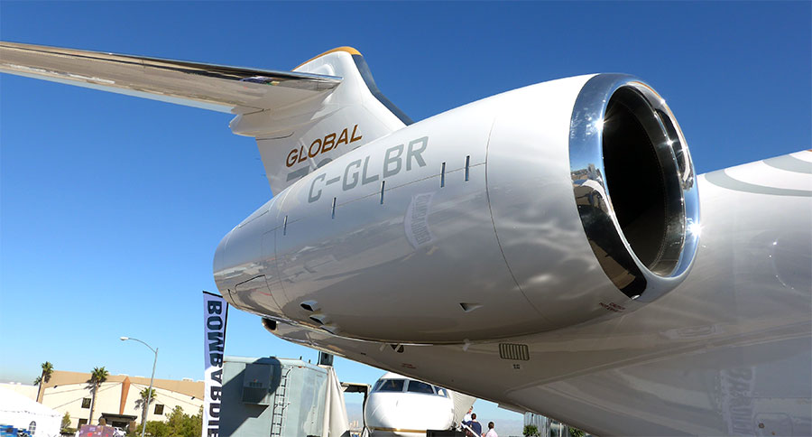 Global 7000's Passport integrated propulsion system with Nexcelle nacelle