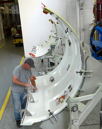 Fan cowl doors are manufactured at Middle River Aircraft Systems